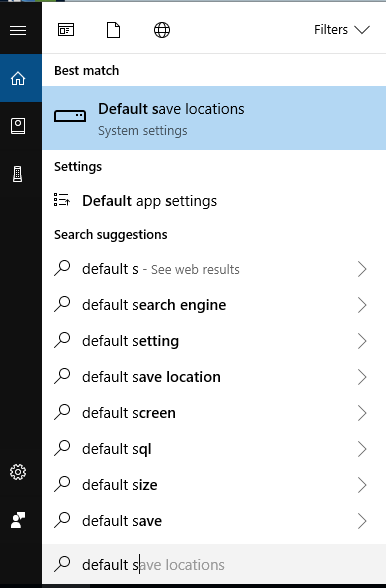 Finding Default Save Locations Settings with Cortona Image